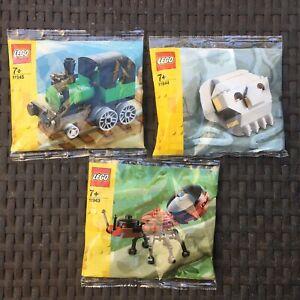 3x Lego Creator polybag bundle, new + sealed 11943 11944 11945 Steam Locomotive