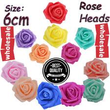 500Pcs Artificial Foam Flowers Fake Rose Heads Wedding Bouquet Party Xmas Decor