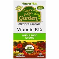 Nature's Plus Source of Life Garden Organic Vitamin B12 60 Veggie Caps