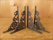 "4 Brown Antique-Style 6.5"" Shelf Br