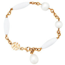 Mimi Milano 18k Rose Gold And White Agate Bracelet B251R1A1