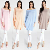 █■█ █ ▀█▀ Neu Damen Luxus Sweatshirt Pullover Cardigan Tunika Oversize S M L