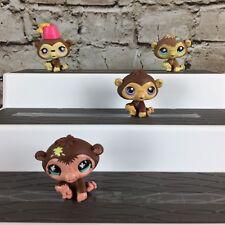 Littlest Pet Shop Lot of (4) Different Chimps Chimp USA Seller LPS
