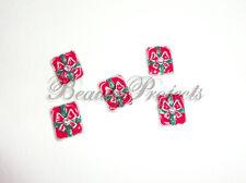 (5pcs) 3D christmas red/green nail art charms acrylic gel designs NEW #C2