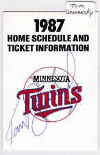 1987 Tom Brunansky Autograph Minnesota Twins Home Schedule Super America AUTO