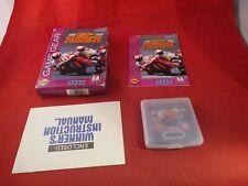 GP Rider (Sega Game Gear, 1994) COMPLETE w/ Box manual game WORKS!