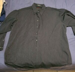Fubu Button Down Shirt Black with Sparkle long Sleeve Mens Size XL