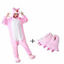 Cute Animal Panther Woman Hooded For Kids Girl Adult One-Piece Pajamas Sleepwear