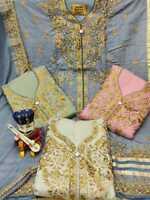 Kameez Salwar Indian Pakistani Suit Dress Designer Wear Party Unstitched Shalwar