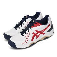 Asics Gel-Challenger 12 White Classic Red Navy Men Tennis Shoes 1041A045-115