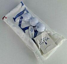 Michelob Ultra Printed Golf Towel Set 3 Balls 3 Tees Divot Tool Ball Marker New