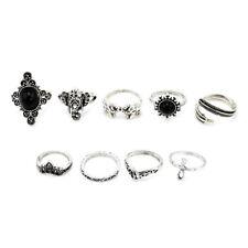 10Pcs Silver/Gold Boho Stack Plain Retro Knuckle Ring Midi Finger Tip Rings Set