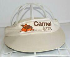 Camel Lights Vintage Visor 1980 Tobacco Hat RJR Elastic Strap One Size Cigarette