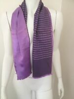 Vintage Italian Lilac Double Sided Silk Scarf