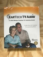 EarTech 2.4 GHz Wireless Premium TV Headset - Factory Sealed
