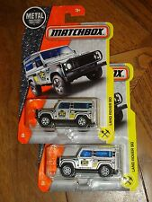 2017 MATCHBOX LAND ROVER 90 IN SILVER COLOR PAINT JOB NEW RELEASE TWO CAR LOT