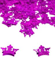Princess CROWN Birthday CONFETTI SPRINKLES pink TABLE DECORATIONS Girls Party