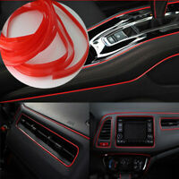 Red Car Van Interior Decor Point Edge Gap Door Panel Accessories Molding 5M Line