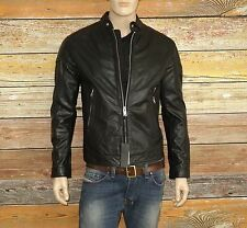 Diesel L-MONIKE Jacket in Black Size Large 100% Cowhide Leather was $598.00