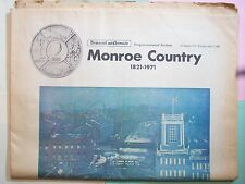 NEWSPAPER 1821 – 1971 MONROE COUNTY ROCHESTER NEW YORK SESQUICENTENNIAL SECTION