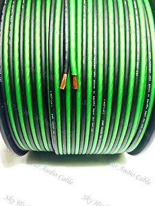 250' feet TRUE 14 Gauge AWG GREEN/BK Speaker Wire W/ SPOOL Car Home Audio ft GA