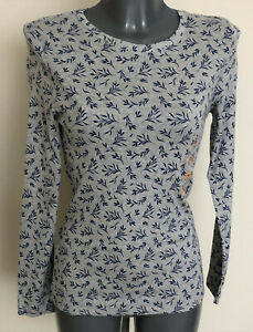 M&S Size10 Long Sleeve Cotton Elastane T-Shirt Top with Stretch Free Postage