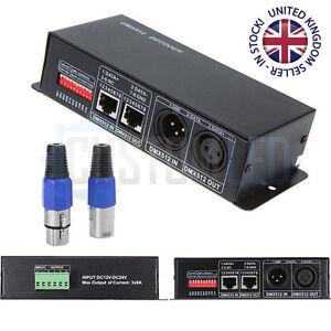DC 12V-24V 4 Channel DMX Decoder LED Controller for RGBW 5050 3528 LED Strip 16A