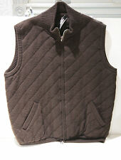 Neiman Marcus Brown 100% Cashmere Knit Medium Vest sz XL  FS