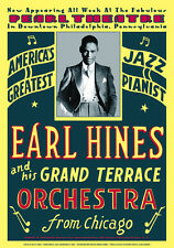 """Jazz Piano: Earl """"Fatha"""" Hines at Pearl Theatre Philadelphia Concert Poster 1929"""