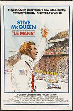 LE MANS 1971 U.S. 1 sheet poster Steve McQueen Formula F1 One