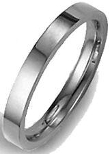 LOWEST PRICE! FLAT PALLADIUM 3MM WIDE WEDDING BAND RING