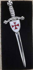 MASONIC Freemasons Knights Templar Order Kilt Pin - Brooch - Enamelled Crest