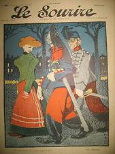 LE SOURIRE N° 227 JOURNAL HUMORISTIQUE ROUBILLE POULBOT FOUSSARIGUES FLORES 1904
