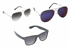 Combo OF Two Aviator & One Premium Sunglasses