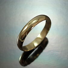 9ct GOLD Wedding Band Ring 4 mm Heavy D Shape UK Size X Hallmarked Gift Boxed