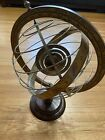 Vintage Wood Metal Zodiac Armillary Astrology Old World Globe Made In Italy