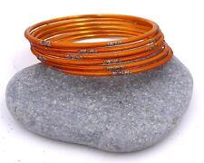 6 bracelets bangles orange strass paillettes Bollywood danse orientale sari Inde