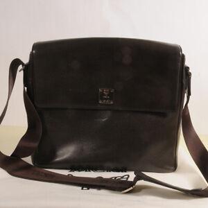 AUTHENTIC MCM Leather Cross  Messenger  Bag + Dust Bag