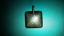 SILPADA JEWELRY  S1118 Retired Silpada sterling silver hammered square pendant