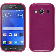 Funda de silicona Samsung Galaxy Ace 4 brushed rosa caldo