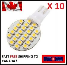10 X White T10 24SMD LED 1210 Dome Lamp Reading Trailer For VW Interior Audi
