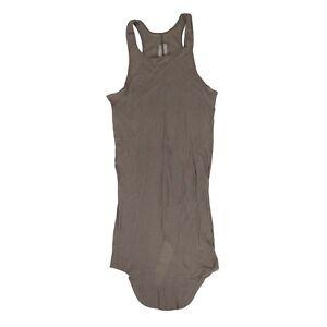 NWT RICK OWENS Dust Brown Basic Ribbed Tank Top Shirt Size XXL $244