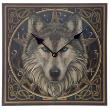 Lisa Parker Fantasy Celtic Wolf Head Picture Wall Clock