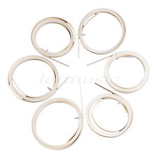 6 Pcs Guitar Binding Purfling Body Project  Ivory ABS 10mm Width 2mm Thick