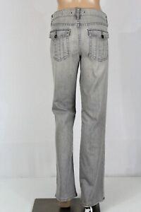"""GAP Women's 29/8 Gray Low Rise Boot Cut Stretch Denim Jeans 33"""" Inseam GUC"""