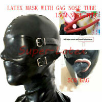 214 Latex Catsuit With nose tube red teeth Zip Hidden Two Condom NO GLOVE