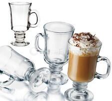 4 x IRISH COFFEE LATTE MUG GLASSES GLASS HANDLE CHOCOLATE CAPPUCCINO DRINK 230ml