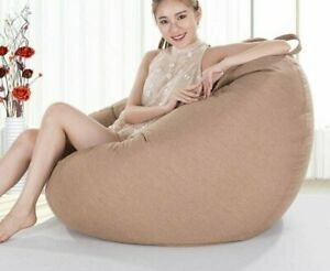 Bean Bag Sofa No Filler Living Room Bedroom Large Chair Couch Cover Comfy Seat