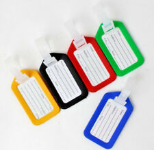 5 PC LUGGAGE TAGS LABELS STRAPS WITH NAME ADDRESS ID SUITCASE BAG BAGGAGE TRAVEL