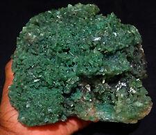 AWESOME GREEN HEULANDITE CRYSTALS FORMAT SPECIMEN W/ STILBITE BOWS FOSSIL MINERA